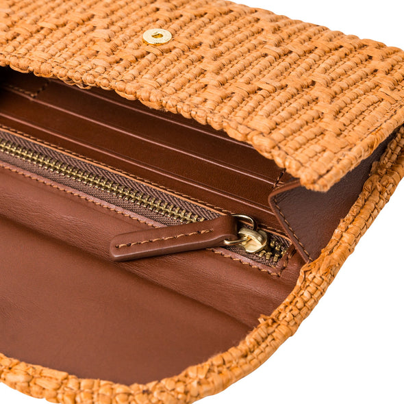 Lucia Mini Purse Jute Caramel | Purses UK | La Portegna UK | Handmade Leather Goods | Vegetable Tanned Leather