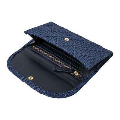 Lucia Mini Purse Jute Navy