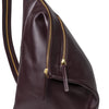 Jane Rucksack Burgundy | La Portegna UK | Handmade Leather Goods | Vegetable Tanned Leather