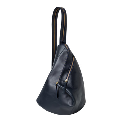 Jane Rucksack Navy | UK | La Portegna UK | Handmade Leather Goods | Vegetable Tanned Leather