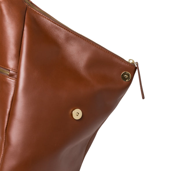 Jane Rucksack Tabaco | UK | La Portegna UK | Handmade Leather Goods | Vegetable Tanned Leather