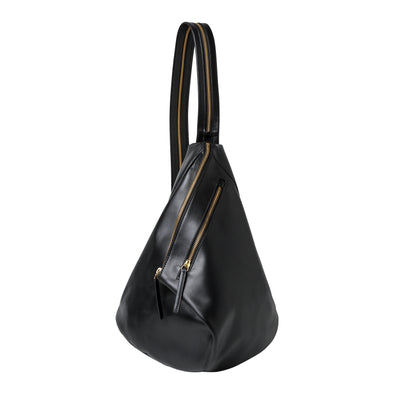 Jane Rucksack Black | La Portegna UK | Handmade Leather Goods | Vegetable Tanned Leather