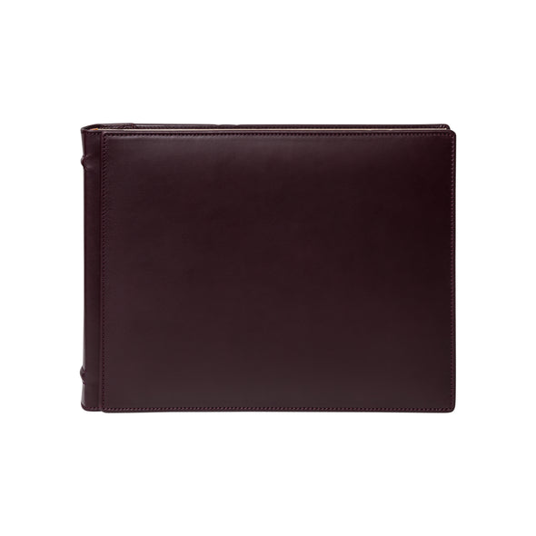 Burgundy Photo Album | Photo album UK | La Portegna UK | Handmade Leather Goods | Vegetable Tanned Leather