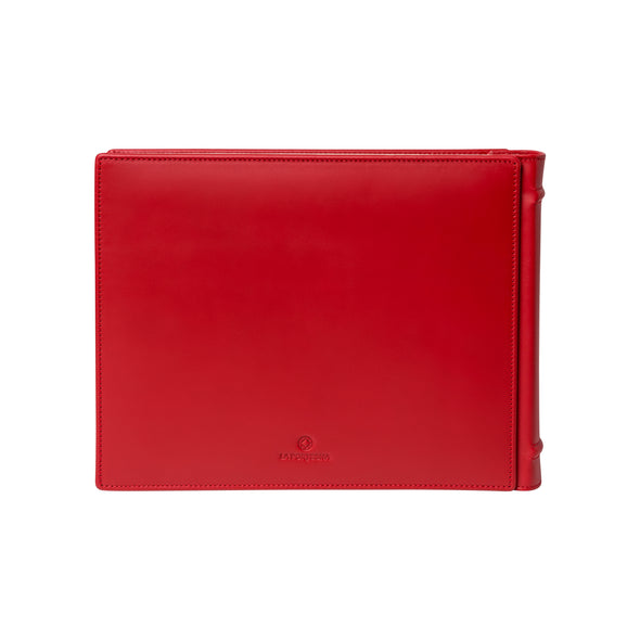 Red Photo Album | Photo album UK | La Portegna UK | Handmade Leather Goods | Vegetable Tanned Leather
