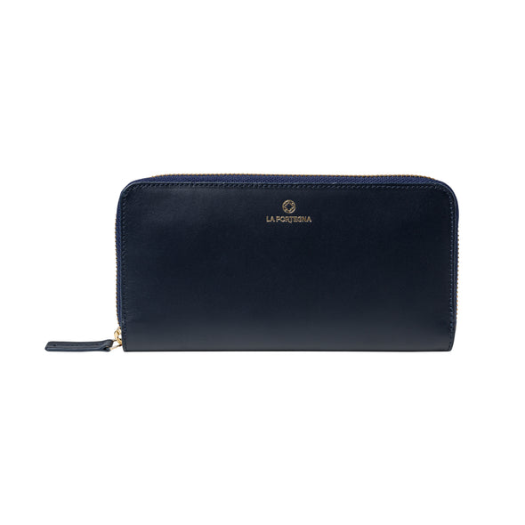 Julia Purse Navy | UK | La Portegna UK | Handmade Leather Goods | Vegetable Tanned Leather