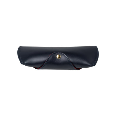 Sunglasses Case Navy | Sunglasses Cases UK | La Portegna UK | Handmade Leather Goods | Vegetable Tanned Leather