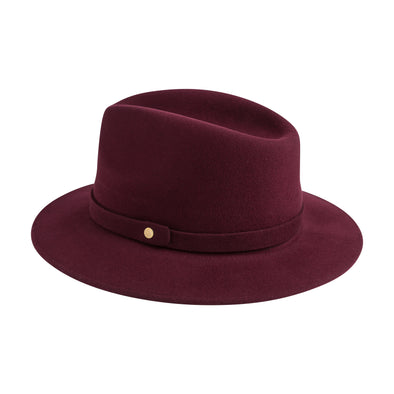 Mendoza Hat Burgundy | La Portegna UK | Handmade Leather Goods | Vegetable Tanned Leather