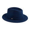 Mendoza Hat Blue | UK | La Portegna UK | Handmade Leather Goods | Vegetable Tanned Leather