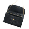 Lucia Python Black Chain Wallets | La Portegna UK | Handmade Leather Goods | Vegetable Tanned Leather
