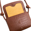 Lucia Tabaco Crocodile | Handbags UK | La Portegna UK | Handmade Leather Goods | Vegetable Tanned Leather