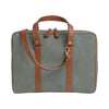 Carter Green Canvas | Briefcases UK | La Portegna UK | Handmade Leather Goods | Vegetable Tanned Leather