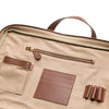 Carter Cement Canvas | Briefcases UK | La Portegna UK | Handmade Leather Goods | Vegetable Tanned Leather