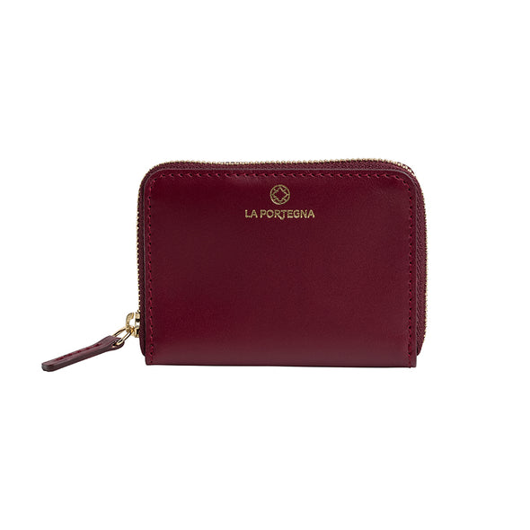 Baby Julia Cherry Wallets | La Portegna UK | Handmade Leather Goods | Vegetable Tanned Leather
