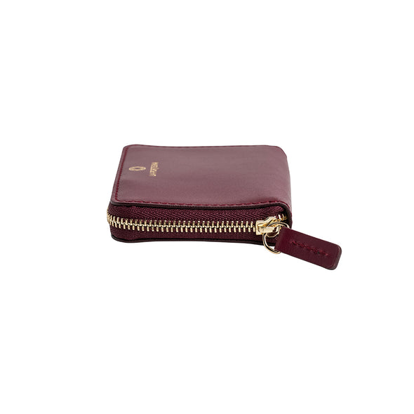 Baby Julia Cherry | Wallets UK | La Portegna UK | Handmade Leather Goods | Vegetable Tanned Leather