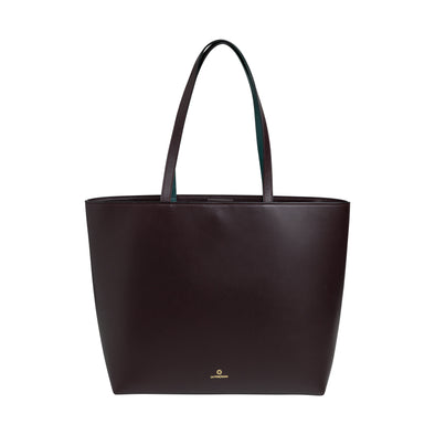 Olivia Tote Burgundy | Shoulder Bags UK | La Portegna UK | Handmade Leather Goods | Vegetable Tanned Leather