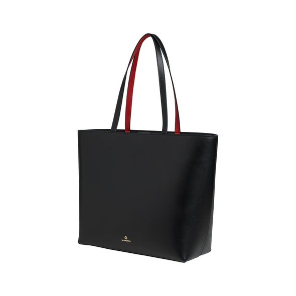 Olivia Tote Black | Shoulder Bags UK | La Portegna UK | Handmade Leather Goods | Vegetable Tanned Leather