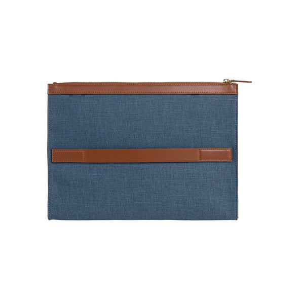 Palma Portfolio Blue | Portfolio Cases UK | La Portegna UK | Handmade Leather Goods | Vegetable Tanned Leather