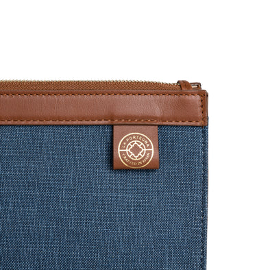 Salinas Portfolio Blue | Portfolio Cases UK | La Portegna UK | Handmade Leather Goods | Vegetable Tanned Leather