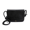 Lucia Black Crocodile | Shoulder Bags UK | La Portegna UK | Handmade Leather Goods | Vegetable Tanned Leather