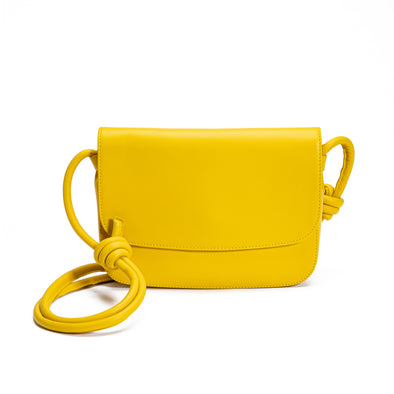 Lucia Mustard | Shoulder Bags UK | La Portegna UK | Handmade Leather Goods | Vegetable Tanned Leather