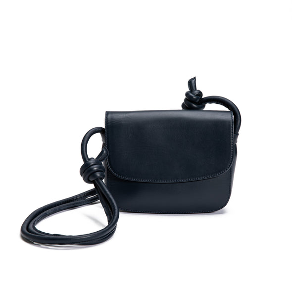 Lucia Mini Navy | Shoulder Bags UK | La Portegna UK | Handmade Leather Goods | Vegetable Tanned Leather