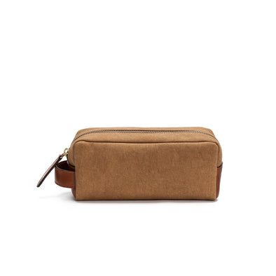 Mini Dopp Kit Mustard | Washcases UK | La Portegna UK | Handmade Leather Goods | Vegetable Tanned Leather
