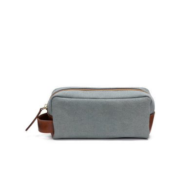 Mini Dopp Kit Aqua | Washcases UK | La Portegna UK | Handmade Leather Goods | Vegetable Tanned Leather