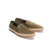 Dani Suede Khaki | Espadrilles UK | La Portegna UK | Handmade Leather Goods | Vegetable Tanned Leather