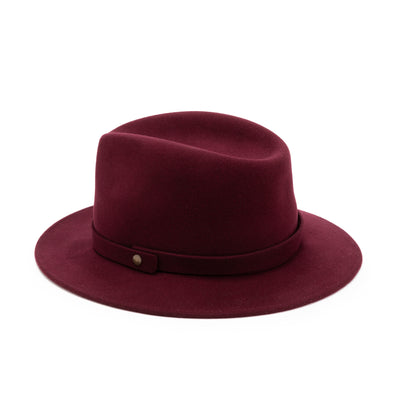 Mendoza Hat Burgundy | UK | La Portegna UK | Handmade Leather Goods | Vegetable Tanned Leather