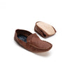 Rodrigo Leather Brown | Slippers UK | La Portegna UK | Handmade Leather Goods | Vegetable Tanned Leather