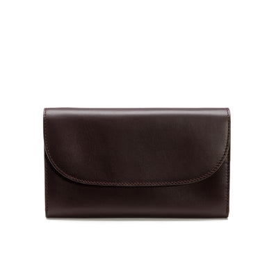 Lucia Burgundy Chain | Purses UK | La Portegna UK | Handmade Leather Goods | Vegetable Tanned Leather