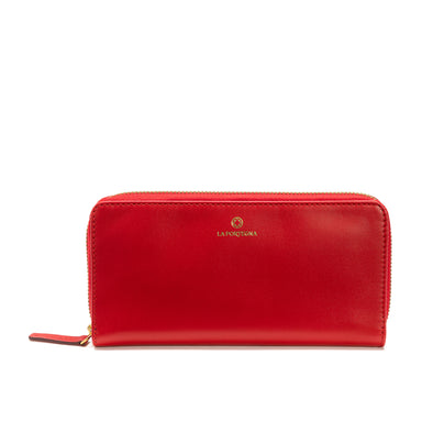 Julia Purse Red | UK | La Portegna UK | Handmade Leather Goods | Vegetable Tanned Leather