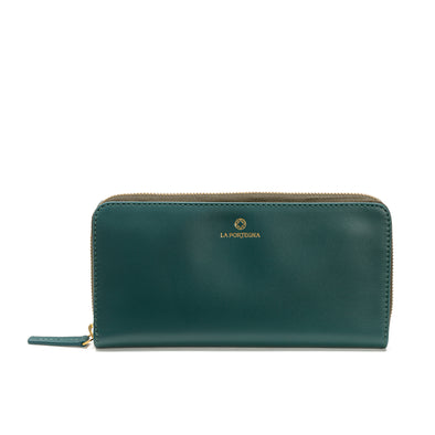 Julia Purse Petrol | UK | La Portegna UK | Handmade Leather Goods | Vegetable Tanned Leather