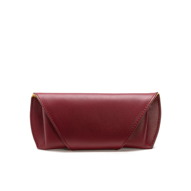 Sunglasses Case Burgundy | Sunglasses Cases UK | La Portegna UK | Handmade Leather Goods | Vegetable Tanned Leather