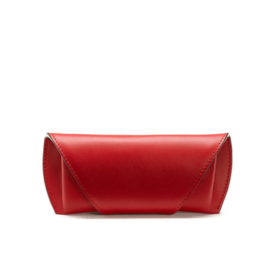 Sunglasses Case Red | Sunglasses Cases UK | La Portegna UK | Handmade Leather Goods | Vegetable Tanned Leather