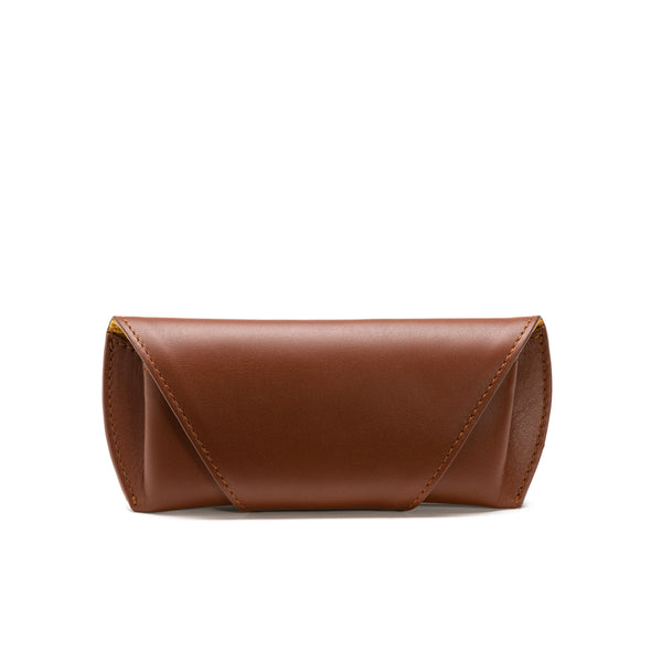 Sunglasses Case Tabaco | Sunglasses Cases UK | La Portegna UK | Handmade Leather Goods | Vegetable Tanned Leather
