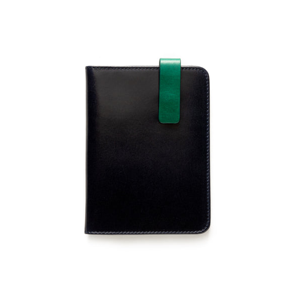 Willy Navy & Green | Wallets UK | La Portegna UK | Handmade Leather Goods | Vegetable Tanned Leather