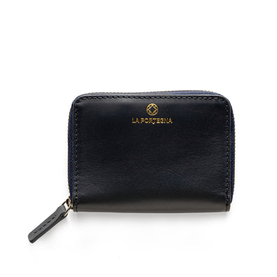Baby Julia Navy | Wallets UK | La Portegna UK | Handmade Leather Goods | Vegetable Tanned Leather