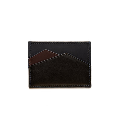 Sierra Horizontal Burgundy & Black | Wallets UK | La Portegna UK | Handmade Leather Goods | Vegetable Tanned Leather