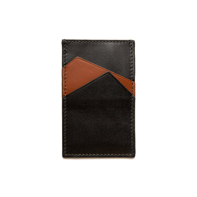 Sierra Vertical Black | Wallets UK | La Portegna UK | Handmade Leather Goods | Vegetable Tanned Leather
