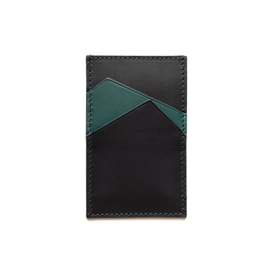 Sierra Vertical Green | Wallets UK | La Portegna UK | Handmade Leather Goods | Vegetable Tanned Leather
