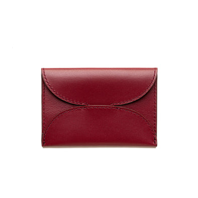 Evita Cherry | Wallets UK | La Portegna UK | Handmade Leather Goods | Vegetable Tanned Leather