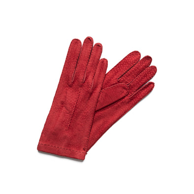 Exotic Red | Gloves UK | La Portegna UK | Handmade Leather Goods | Vegetable Tanned Leather