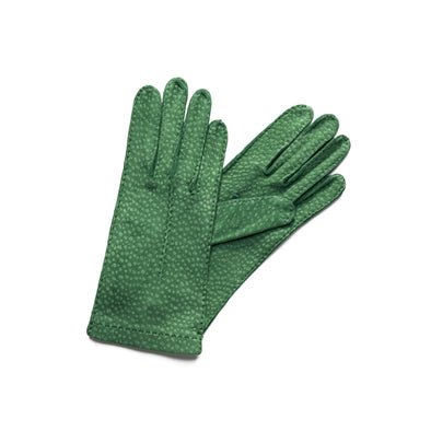 Exotic Green | Gloves UK | La Portegna UK | Handmade Leather Goods | Vegetable Tanned Leather
