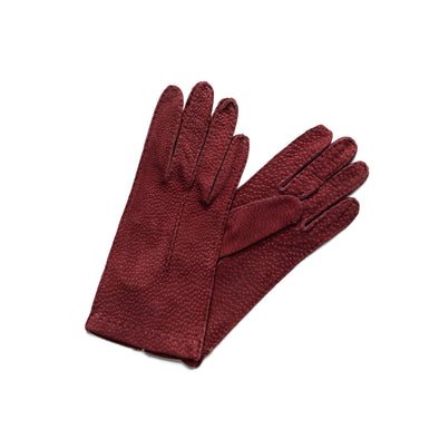 Exotic Burgundy | Gloves UK | La Portegna UK | Handmade Leather Goods | Vegetable Tanned Leather