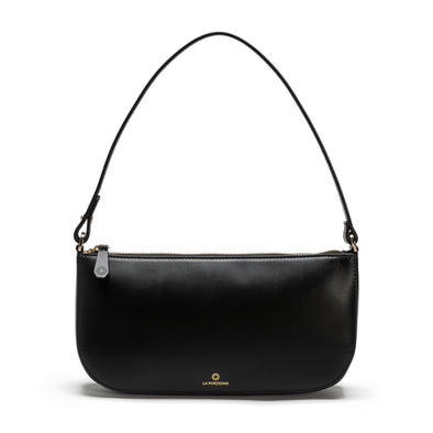 Berta Black | Shoulder Bags UK | La Portegna UK | Handmade Leather Goods | Vegetable Tanned Leather
