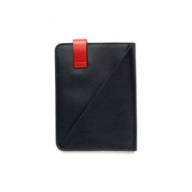 Willy Navy & Red | Wallets UK | La Portegna UK | Handmade Leather Goods | Vegetable Tanned Leather