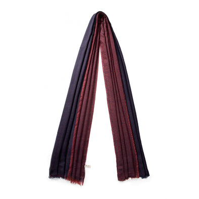 Pashmina Bicolor Navy | Pashmina UK | La Portegna UK | Handmade Leather Goods | Vegetable Tanned Leather