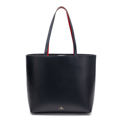 Olivia Tote Navy | Shoulder Bags UK | La Portegna UK | Handmade Leather Goods | Vegetable Tanned Leather