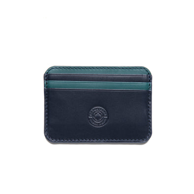 Humphrey Bicolor Navy | Wallets UK | La Portegna UK | Handmade Leather Goods | Vegetable Tanned Leather